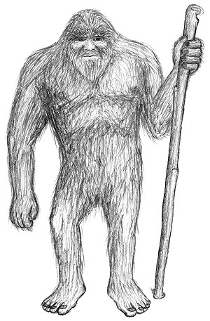 sketch of a Bigfoot