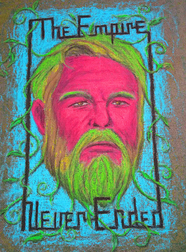 chalk drawing: 'The Empire Never Ended'